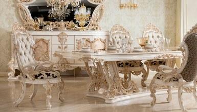 Lüks Venora Klasik Beyaz Yemek Odası - Thumbnail