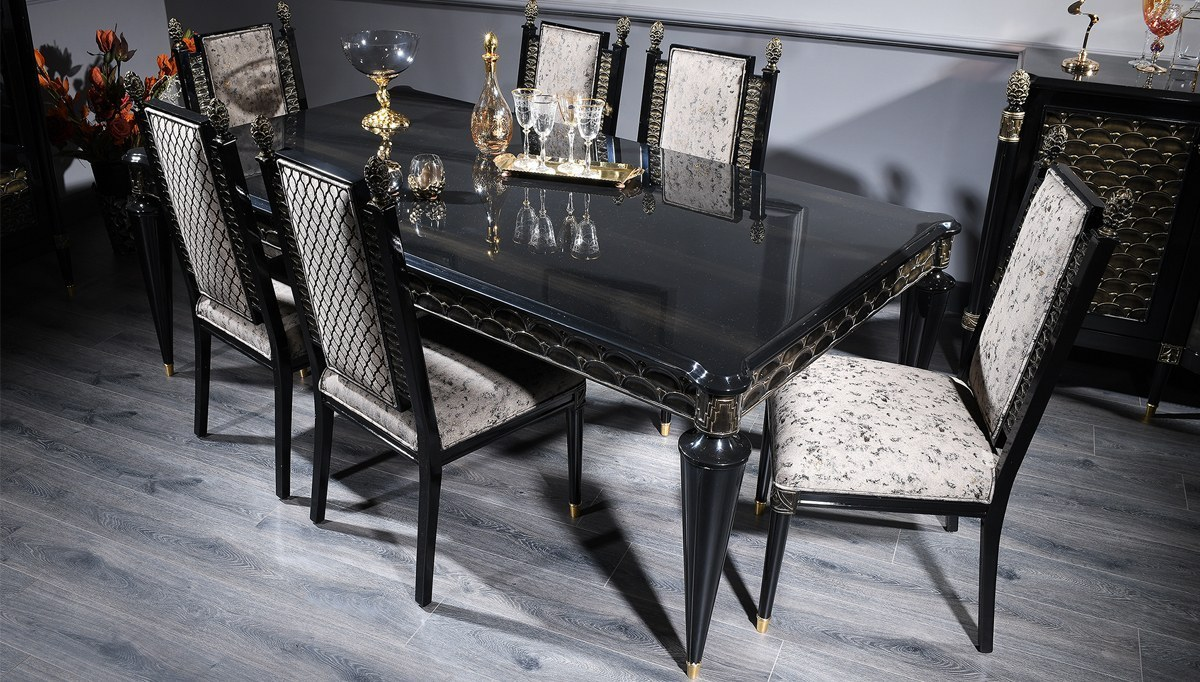 Lüks Venüssa Klasik Yemek Odası