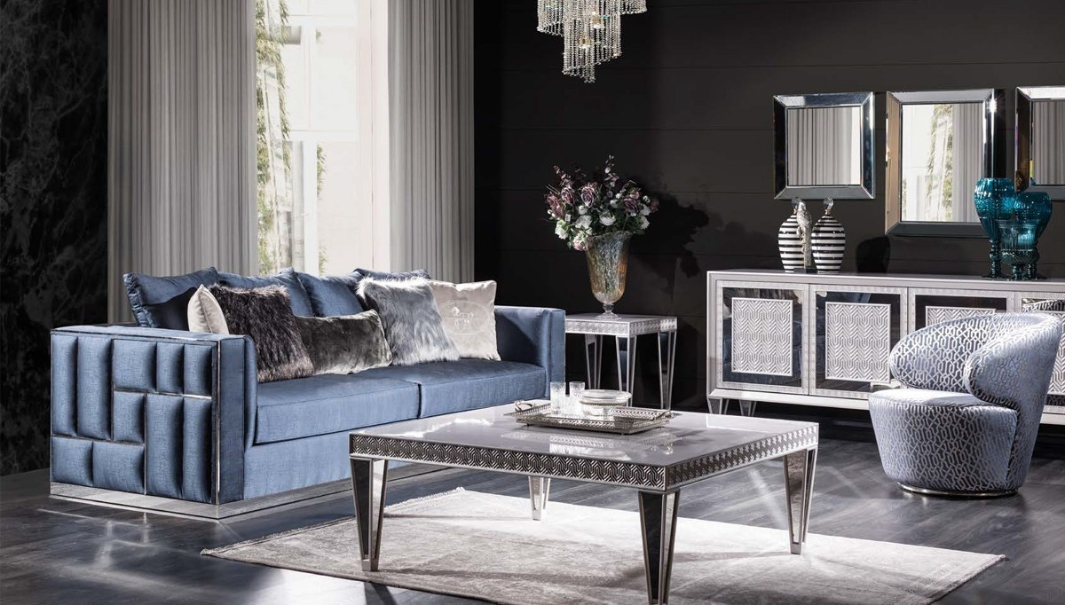 Lüks Viamonte Art Deco Koltuk Takımı