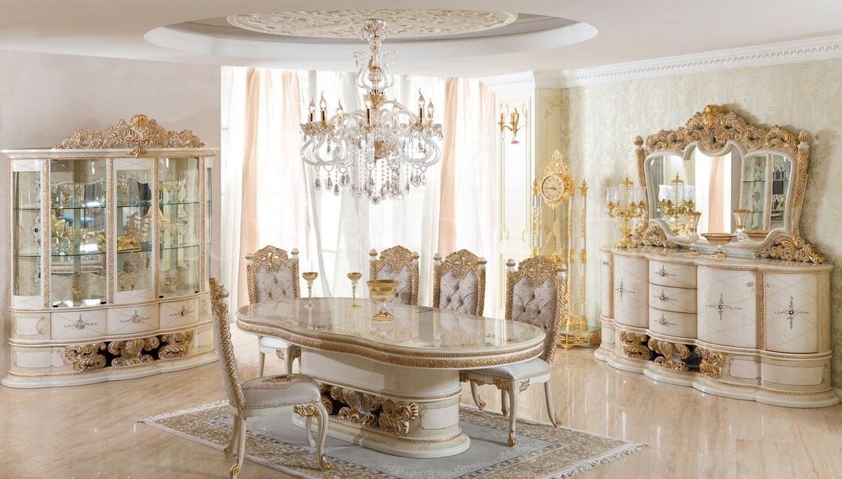 Lüks Villa Klasik Yemek Odası