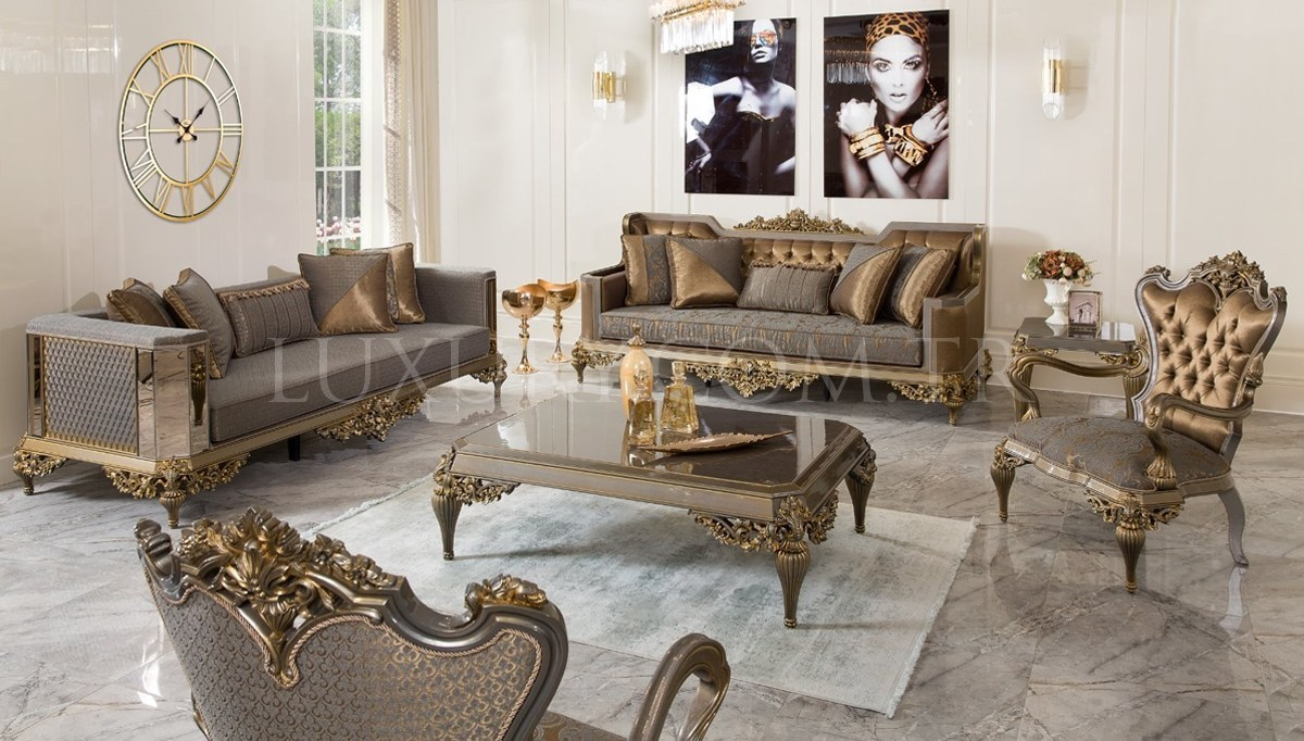 Lüks Vistera Art Deco Koltuk Takımı