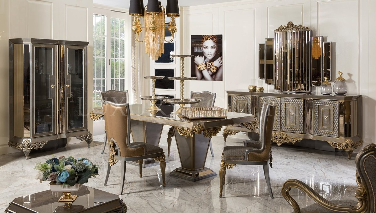 Lüks Vistera Art Deco Yemek Odası