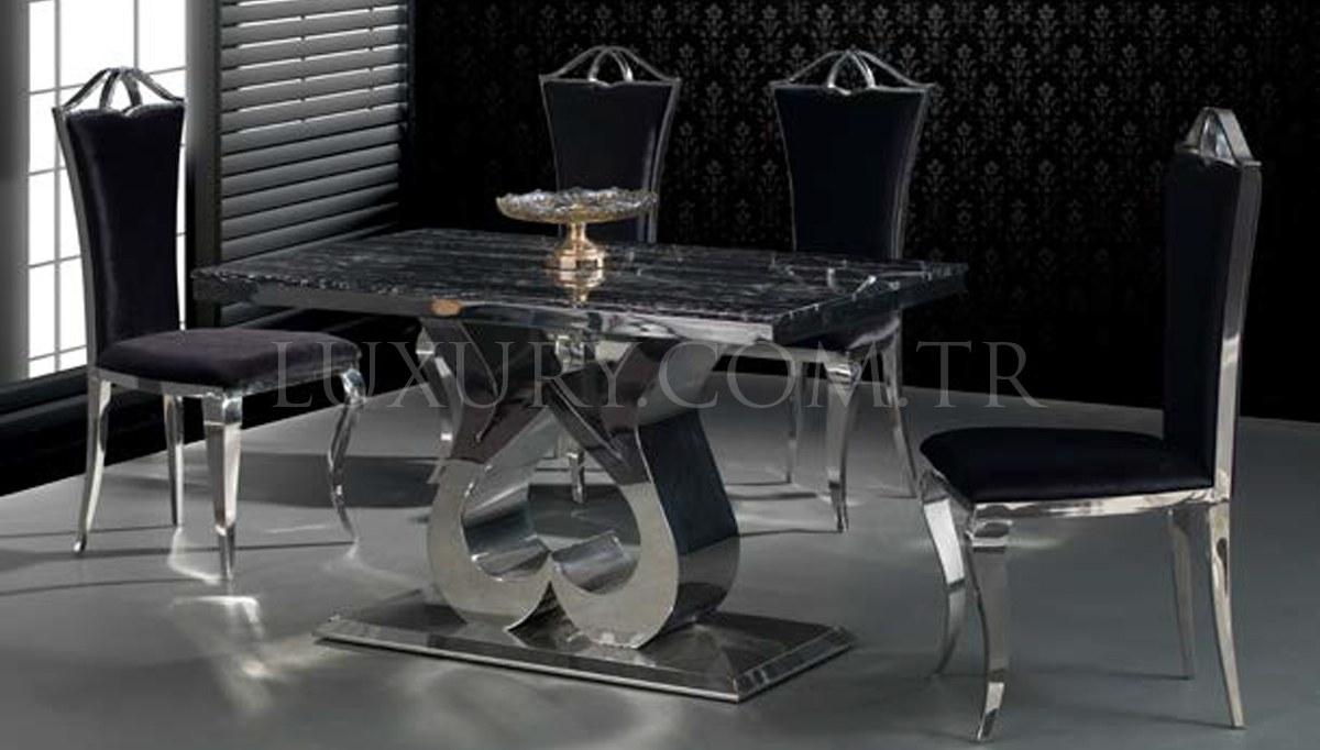 Lüks Vitesse Metal Yemek Masası