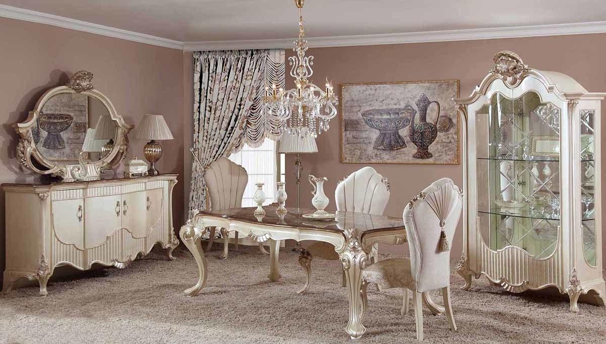 Lüks Vivian Klasik Yemek Odası