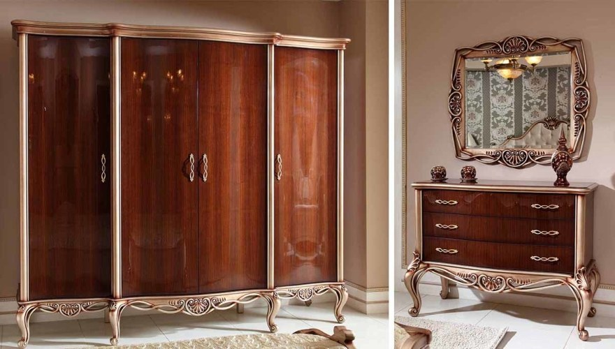 Lüks Vivoz Klasik Yatak Odası - Thumbnail