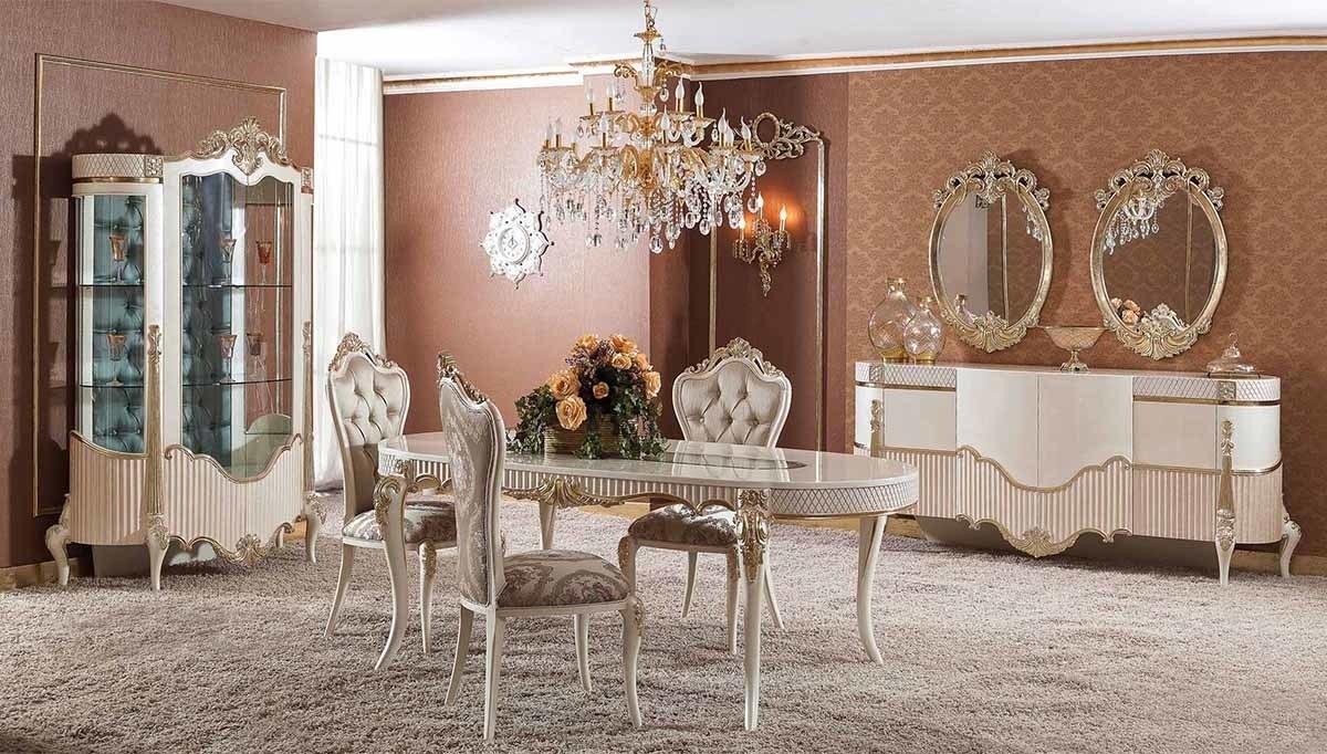Lüks Volera Klasik Yemek Odası