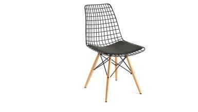 920 - Lüks Yaldız Ahşap Ayaklı Sandalye