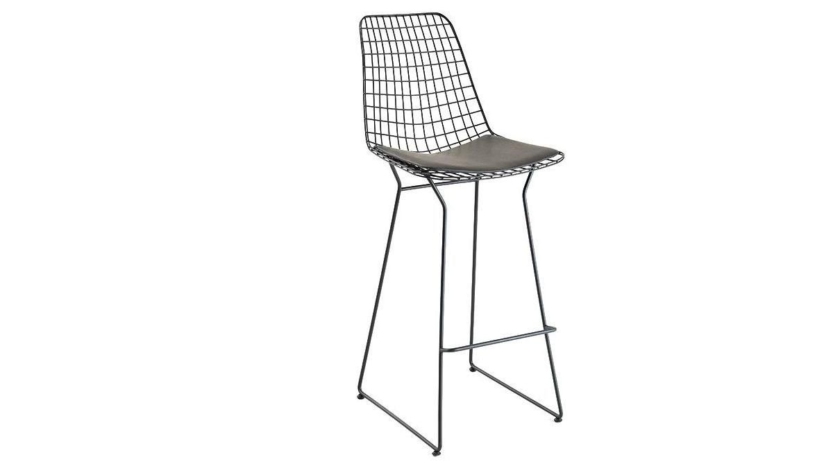 Lüks Yaldız U Ayaklı Uzun Sandalye