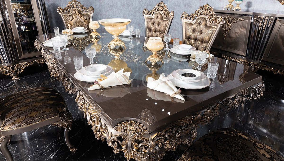 Lüks Zerafet Klasik Yemek Odası