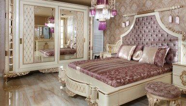 Lüks Zümrüt Klasik Yatak Odası