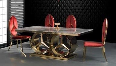 985 - Maestro Gold Metal Yemek Masası