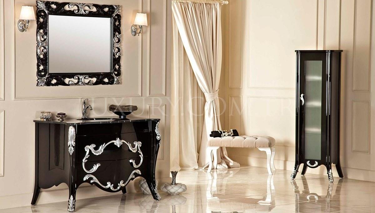 Marena Siyah Klasik Banyo Takımı
