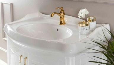 Merola Beyaz Klasik Banyo Takımı - Thumbnail