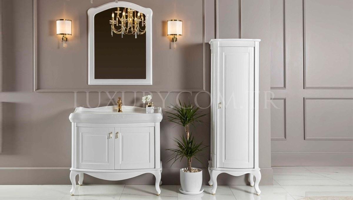 Merola Beyaz Klasik Banyo Takımı