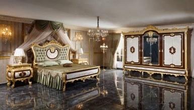 1014 - Monesa Altın Varaklı Yatak Odası