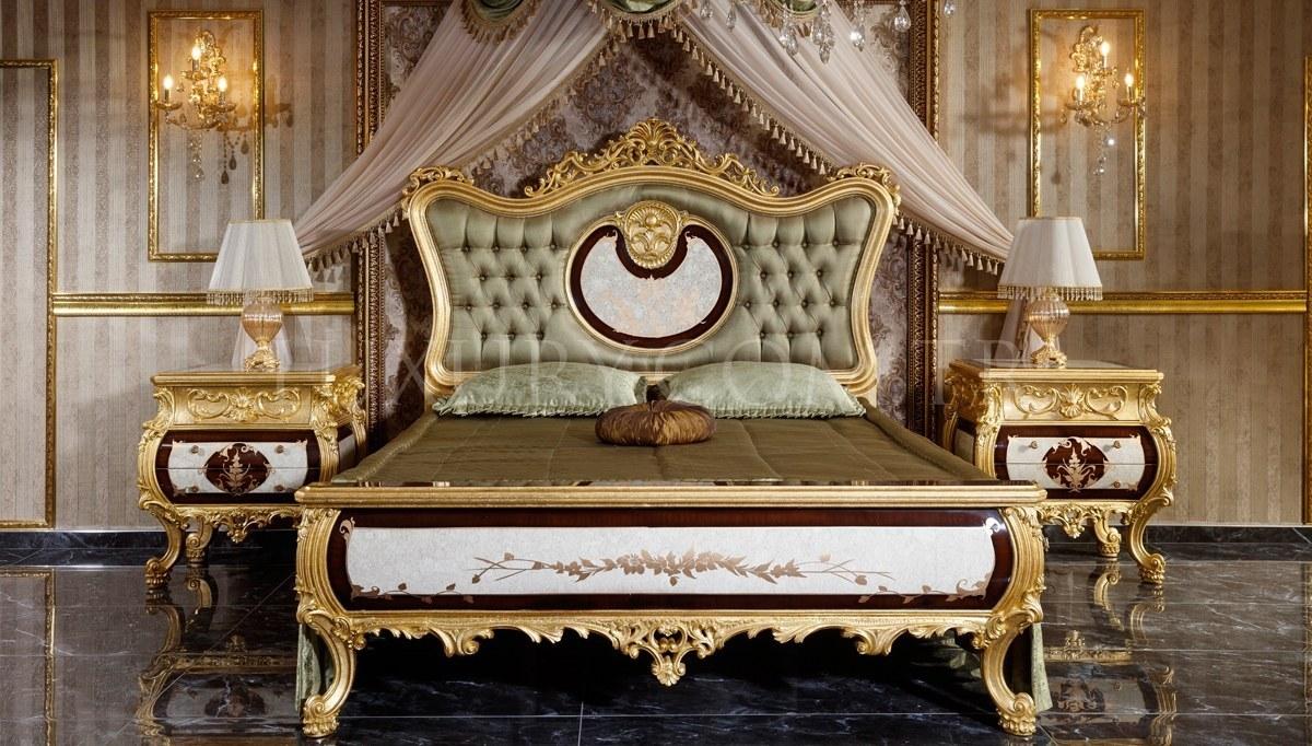 Monesa Altın Varaklı Yatak Odası