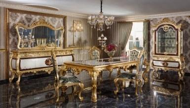 Monesa Altın Varaklı Yemek Odası - Thumbnail