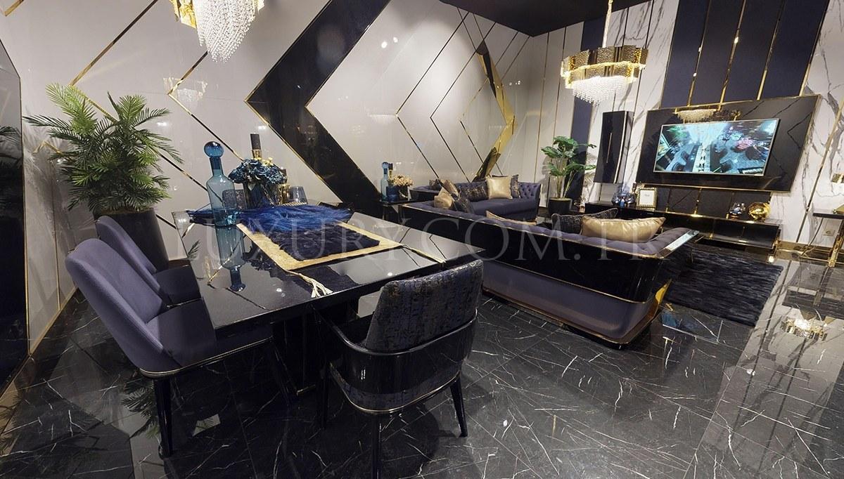 Napoli Luxury Metal Yemek Odası