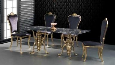 985 - Portivo Gold Metal Yemek Masası