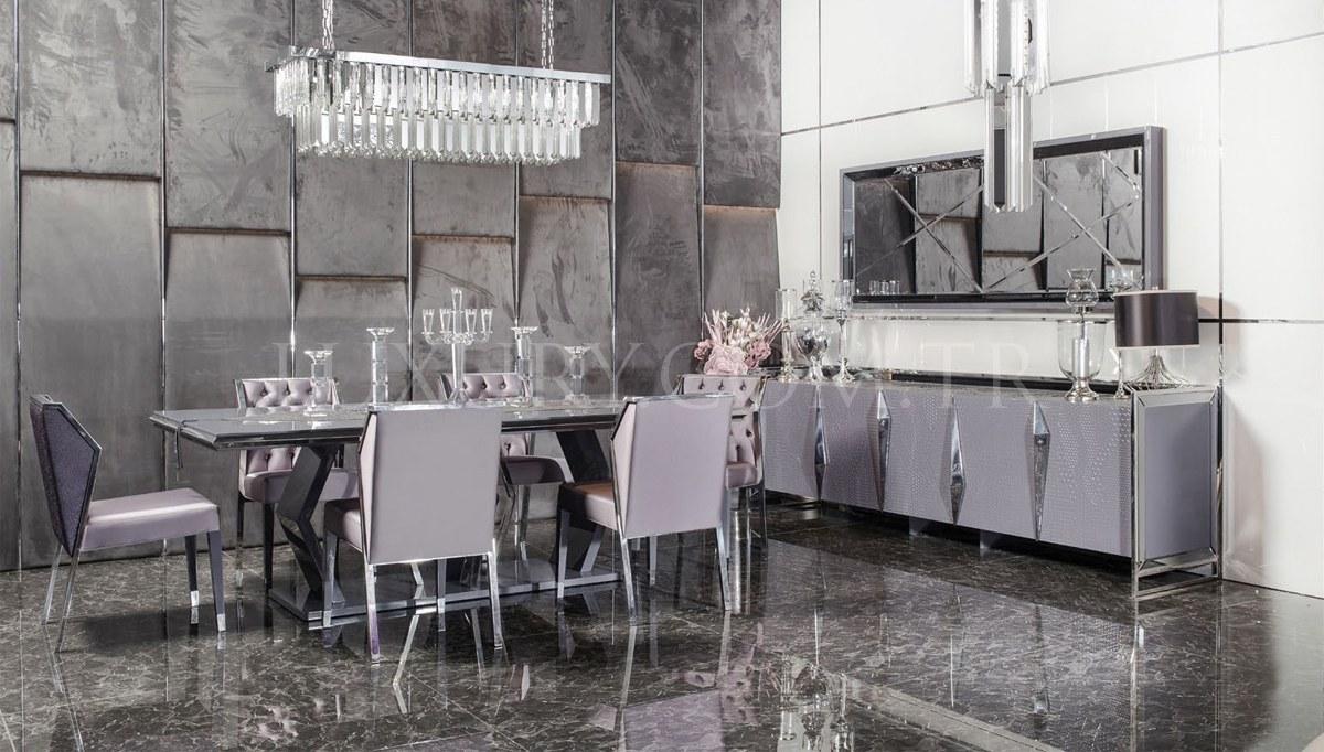 Rayona Luxury Metal Yemek Odası