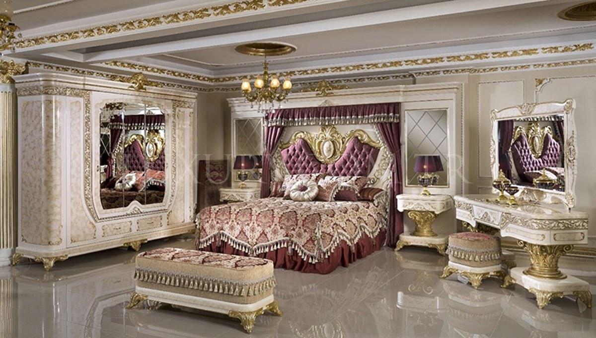 Safir Krem Yatak Odası