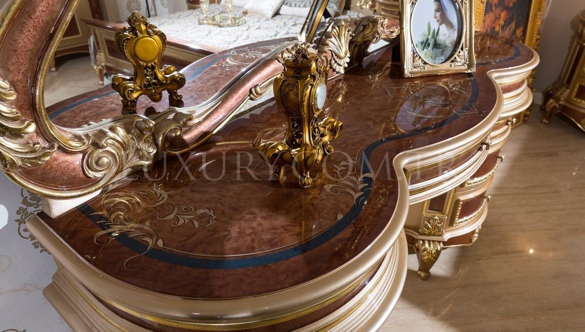 Safiros Ceviz Klasik Yatak Odası