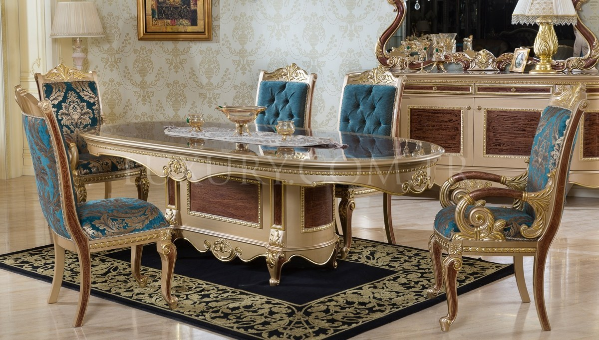 Safiros Ceviz Klasik Yemek Odası