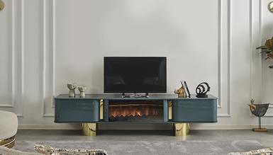 Secret Luxury Şömineli TV Sehpası - Thumbnail