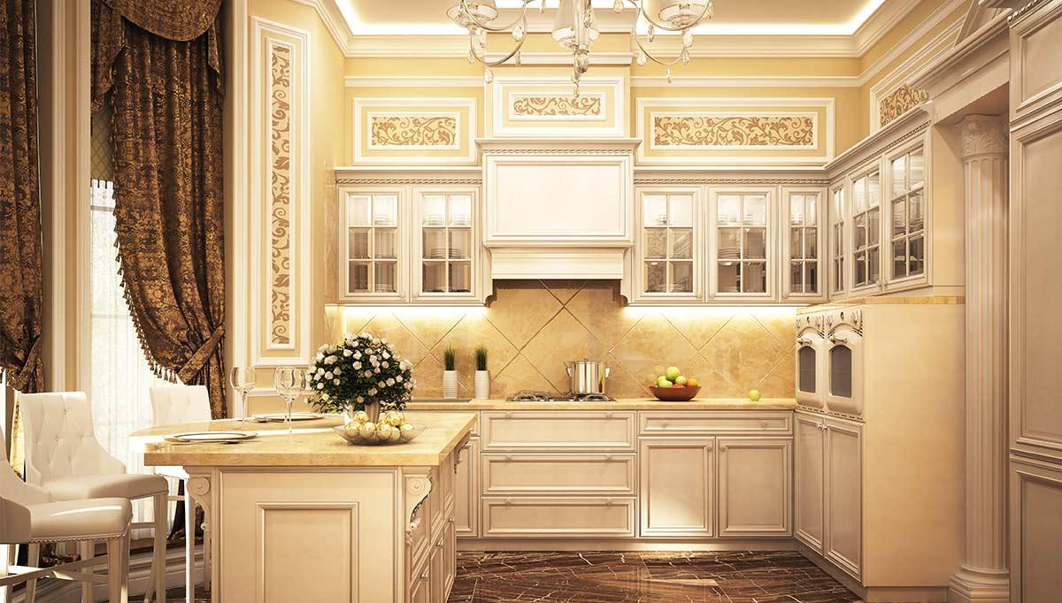 Sepya Mutfak Dekorasyonu