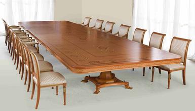 Stonas Klasik Bronz Toplantı Masası - Thumbnail