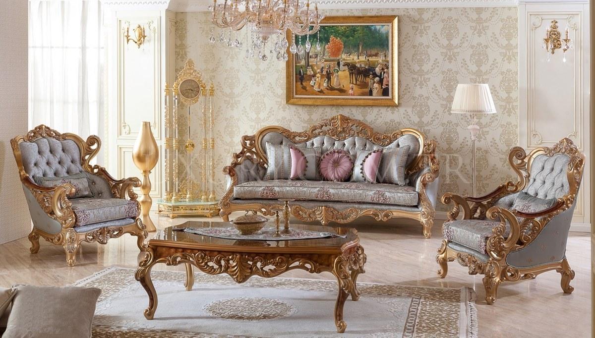 Villa Klasik Ceviz Koltuk Takımı