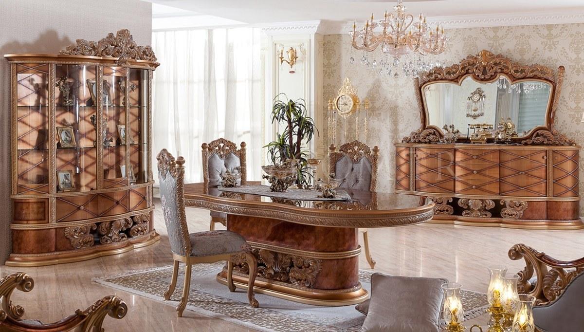 Villa Klasik Ceviz Yemek Odası