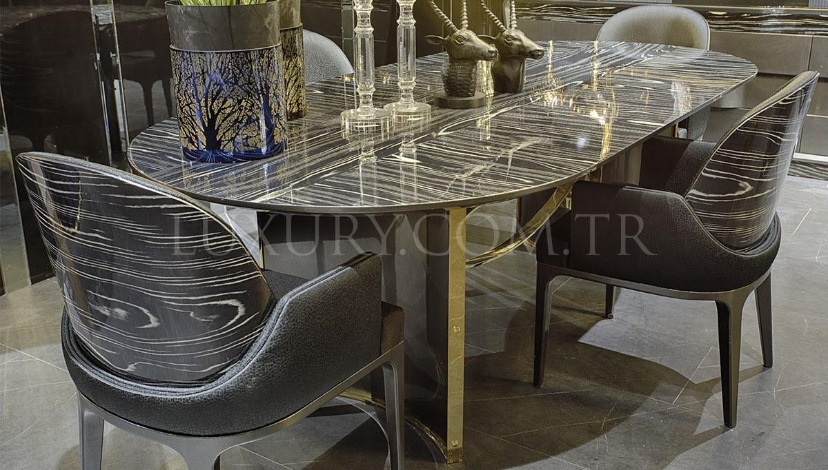 Vision Luxury Metal Yemek Odası