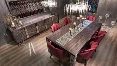 1036 - Vortena Metal Yemek Odası